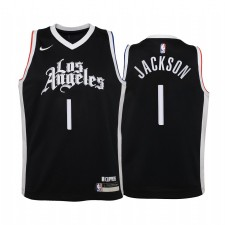 Clippers de Los Angeles Reggie Jackson City Noir Enfants Maillot -
