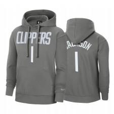 Reggie Jackson Los Angeles Clippers 2021 Edition gagnée Sweat à capuche Grey Pullover