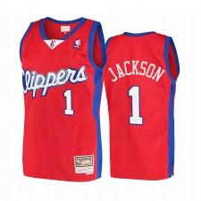 Reggie Jackson La Clippers Rouge Maillot Hardwood Classics 2001-02