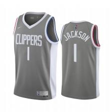 La Clippers Reggie Jackson a gagné Edition Gray & 1 Maillot