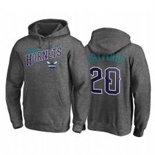 Charlotte Hornets Gordon Hayward 2021 Noches Ene-Be-A Core Charcoal & 20 Pull à capuche