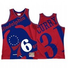 Seth Curry & 31 Philadelphie 76ers Saumé Mode Maillot Red