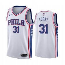 Seth Curry Philadelphie 76ers Déclaration rouge Maillot 2020 Commerce