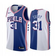 Seth Curry Philadelphia 76ers Blanc Royal Split Maillot 2020 Commerce