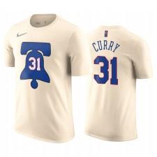 Seth Curry 76ers & 31 Numéro de nom de T-shirt Cream Edition