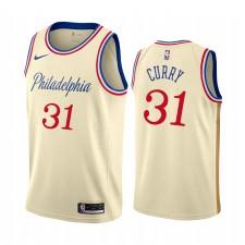 Seth Curry Philadelphia 76ers Noir City Maillot 2020 Commerce