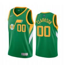 Utah Jazz Jordan Clarkson a gagné Edition Green & 00 Maillot