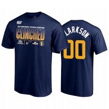 Utah Jazz Jordan Clarkson 2021 Northwest Division Champions Navy & 00 T-shirt Salle de vestiaire