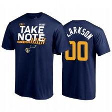 Utah Jazz Jordan Clarkson 2021 NBA Playoffs Bound Navy & 00 T-shirt Dunk