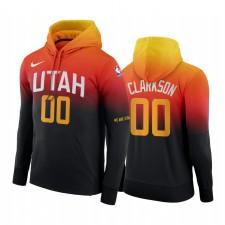 Jordan Clarkson Utah Jazz City Hoodie Noir Orange Pullover