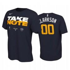 Jordan Clarkson Utah Jazz 2020 NBA Playoffs T-shirt Bound T-shirt Navy Mantr Power Prenez note