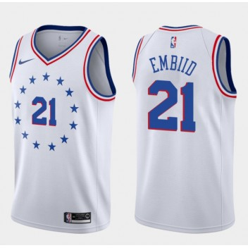 76ers Joel Embiid Gagné Maillot - Blanc