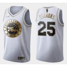 Philadelphia 76ers Ben Simmons Doré édition Maillot Blanc