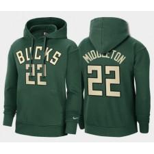 Milwaukee Bucks Khris Middleton vert gagné édition 2021 Pull Capuche