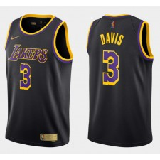 Anthony Davis Los Angeles Lakers Noir 2020-21 gagné édition Maillot