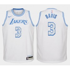 Enfant Los Angeles Lakers Anthony Davis Ville Maillot Blanc