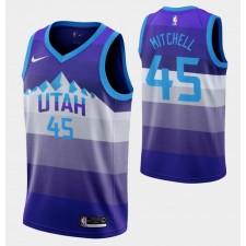 Hommes Utah Jazz Donovan Mitchell &27 pourpre Retour X Clty Maillot