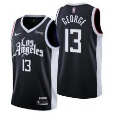 Los Angeles Clippers &13 Paul George Swingman Noir Maillot Ville Édition 2021