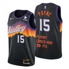 Phoenix Suns Cameron Payne N ° 15 Playoffs Nouvelle carrière High 28PTS Noir Maillot