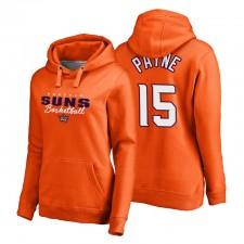 2021 Phoenix Suns No. 15 Cameron Payne Script Assister Pull Sweat à capuche Orange Femmes