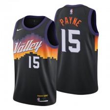 Phoenix Suns Swingman Maillot Cameron Cameron Payne N ° 15 Ville Edition Noir