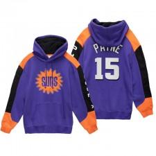 Phoenix Suns Cameron Payne Sweat à capuche N ° 15 Feuille de feuillus Feuille de Feuille Violet