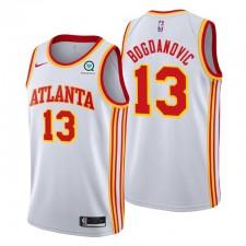 Atlanta Hawks & 13 Bogdan Bogdanovic Maillot Blanc Association Edition