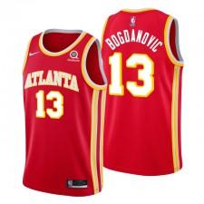 Atlanta Hawks & 13 Bogdan Bogdanovic Maillot rouge icon édition