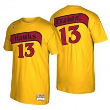 Atlanta Hawks Bogdan Bogdanovic & 13 Mitchell & Ness Reload 2.0 T-shirt Or