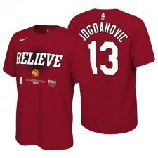 Atlanta Hawks 2021 NBA Playoffs Red Bogdan Bogdanovic & 13 Mantra T-shirt