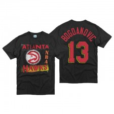 Atlanta Hawks Bogdan Bogdanovic & 13 T-shirt Vintage Tubular Noir '47