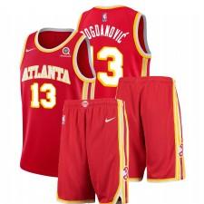Nike Atlanta Hawks Bogdan Bogdanovic & 13 Tenue de gymnastique d'icône rouge