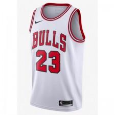 ike: Authentic Maillot de Michael Jordan Blanc Icon Édition (Chicago Bulls)