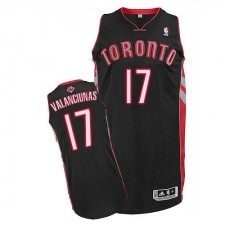 NBA Jonas Valanciunas Authentic Men's Black Jersey - Adidas Toronto Raptors &17 Alternate