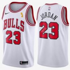 Nike: Authentic Maillot signature et champion de Michael Jordan Blanc Icon Édition (Chicago Bulls)