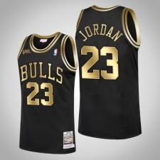 Chicago Bulls Michael Jordan 1998 Finales Champions Golden Limitée Noir Maillot