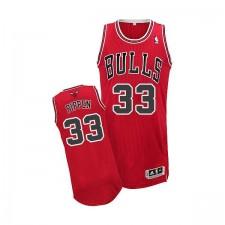 Maillot rouge de NBA Scottie Pippen authentiques hommes - Adidas Chicago Bulls & route 33