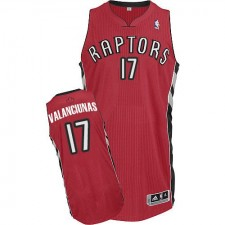 NBA Jonas Valanciunas Authentic Men's Red Jersey - Adidas Toronto Raptors &17 Road