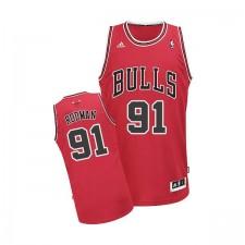 Maillot rouge NBA Dennis Rodman Swingman masculine - Adidas Chicago Bulls & route 91