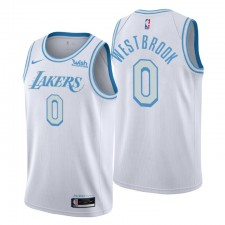Los Angeles Lakers City Edition Russell Westbrook & 0 Blanc Swingman Maillot