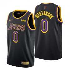 Los Angeles Lakers no. 0 Russell Westbrook a gagné édition Noir Maillot