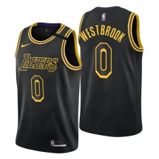 Los Angeles Lakers Russell Westbrook Maillot Mamba 0 Noir