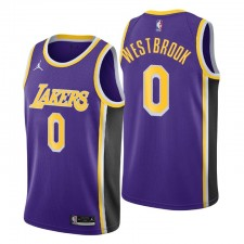 RLos Angeles Lakers Déclaration Édition Russell Westbrook & 0 Purple Swingman Maillot