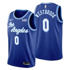 Russell Westbrook No. 00 Los Angeles Lakers Mitchell & Ness Royal Hardwood Classics Maillot