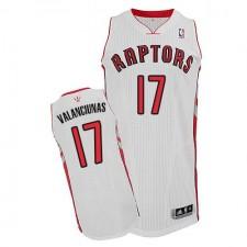 NBA Jonas Valanciunas Authentic Men's White Jersey - Adidas Toronto Raptors &17 Home