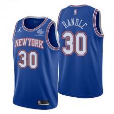 New York Knicks & 30 Julius Randle Maillot Bleu Déclaration Édition