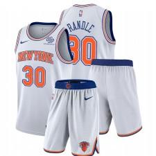 New York Knicks Nike Julius Randle & 30 Blanc Association Salle de gymnastique