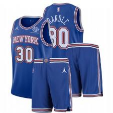 New York Knicks Nike Déclaration Edition Julius Randle & 30 Bleu Gym