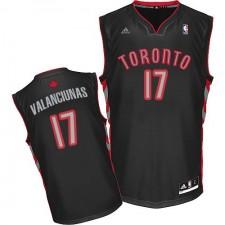 NBA Jonas Valanciunas Swingman Men's Black Jersey - Adidas Toronto Raptors &17 Alternate