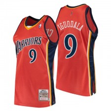 Golden State Warriors André Iguodala Hardwood Classics & 9 Orange Maillot